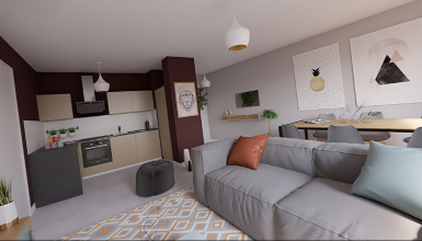 Bel appartement T3 ensoleillé, dans un immeuble de 2016